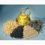 На экспорт подсолнечное,  пальмовое,  рапсовое,  соевое ,  кукурузное масл