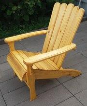 Деревянный стол,  лавочки,  кресло на дачу от ремесленника
